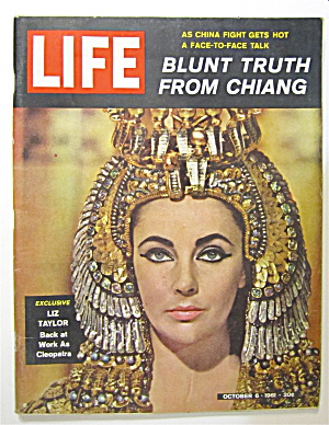 Life Magazine October 6, 1961 Liz Taylor As Cleopatra