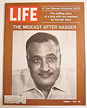 Life Magazine October 9, 1970 Mideast After Nasser