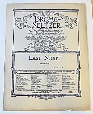 1900's Bromo-Seltzer - Last Night (Image1)
