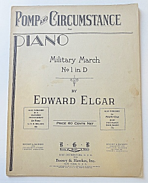 1902 Pomp & Circumstance Piano Military March