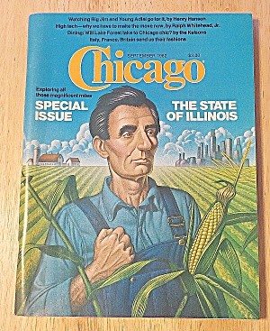 Chicago Magazine September 1982 State Of Illinois (Image1)