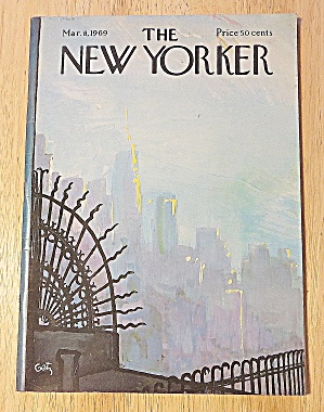 New Yorker Magazine March 8, 1969 Arthur Getz Cover