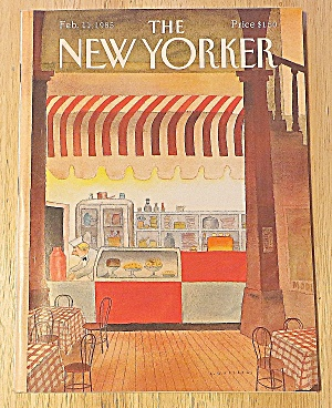 New Yorker Magazine February 11, 1985 Coffee Shop