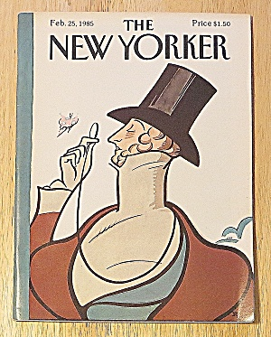 New Yorker Magazine February 25, 1985 Man & Butterfly