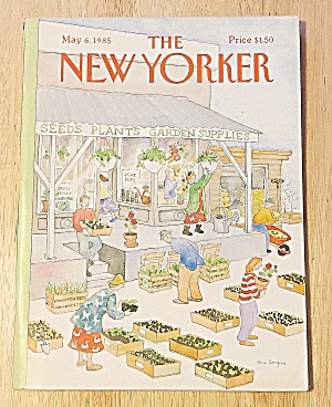 New Yorker Magazine May 6, 1985 Garden Supplies (Image1)