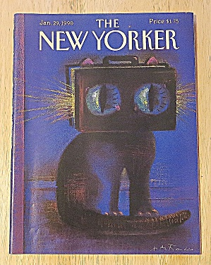New Yorker Magazine January 29, 1990 Cat's Eyes (Image1)