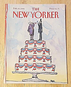 New Yorker Magazine Feb 19, 1990 Washington/Lincoln (Image1)