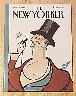 New Yorker Magazine Feb 26, 1990 Man W/ Eyeglass (Image1)