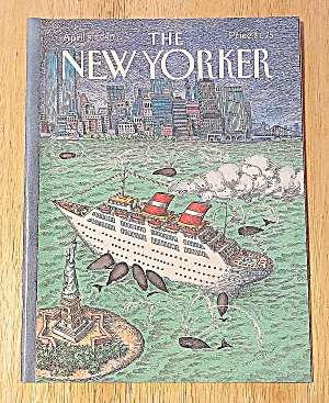 New Yorker Magazine April 9, 1990 Ship In New York (Image1)