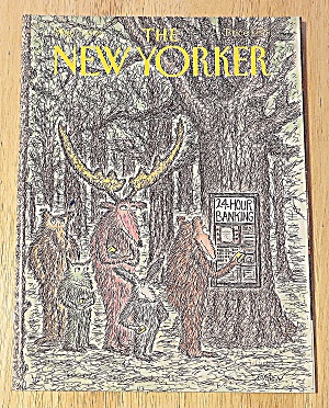 New Yorker Magazine May 7, 1990 Deer Using Atm (Image1)