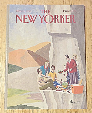 New Yorker Magazine May 21, 1990 Picnicking On Rock (Image1)