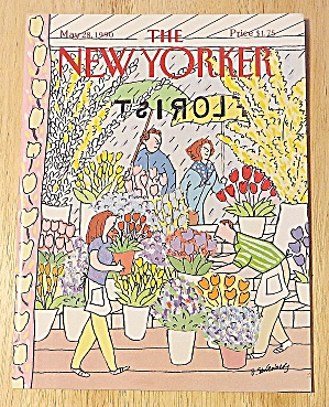 New Yorker Magazine May 28, 1990 Flower Shop