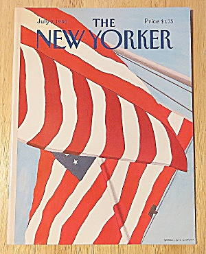 New Yorker Magazine July 2, 1990 American Flag
