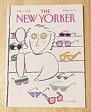 New Yorker Magazine July 9, 1990 Woman Getting Glasses
