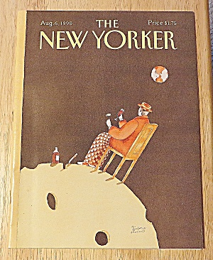 New Yorker Magazine August 6, 1990 Man Eating Cheese (Image1)