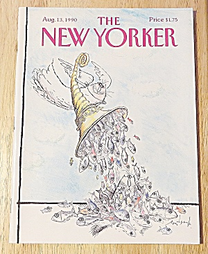 New Yorker Magazine August 13, 1990 Fish In A Horn