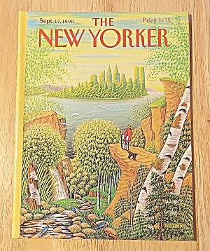 New Yorker Magazine September 17, 1990 Man On High Rock (Image1)