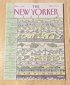New Yorker Magazine October 1, 1990 Household Items