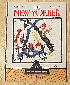 New Yorker Magazine October 15, 1990 Couple On Bench