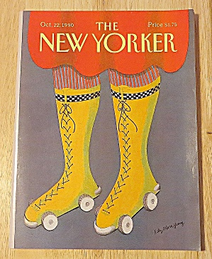 New Yorker Magazine October 22, 1990 Roller Skates