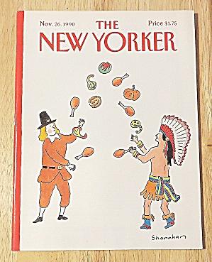 New Yorker Magazine November 26 1990 Pilgrims & Indians (Image1)