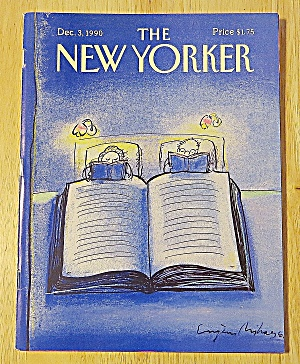 New Yorker Magazine December 3, 1990 Couple Reading