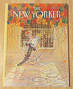 New Yorker Magazine December 31, 1990 Couple Dancing