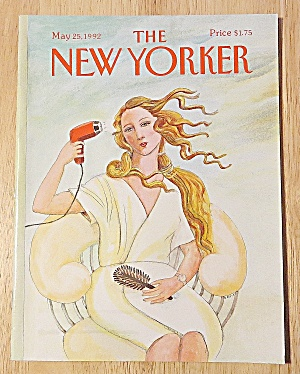 New Yorker Magazine May 25, 1992 Girl Blow Drying