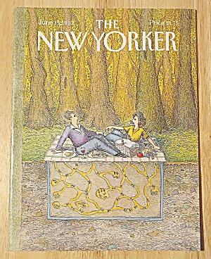 New Yorker Magazine June 15, 1992 Couple Picnicking (Image1)