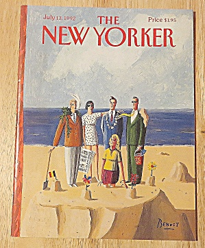 New Yorker Magazine July 13, 1992 People On Beach (Image1)