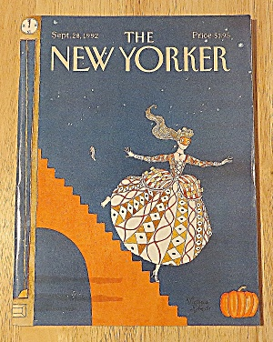 New Yorker Magazine September 28, 1992 Girl Losing Shoe (Image1)