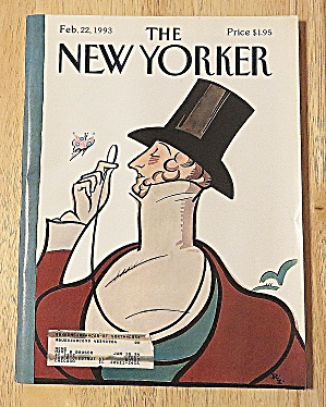 New Yorker Magazine February 22, 1993 Man With Eyeglass (Image1)