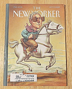 New Yorker Magazine October 13, 2003 Man Riding Horse