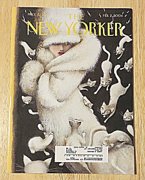 New Yorker Magazine February 2, 2004 Cats Around Woman (Image1)