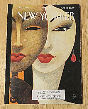 New Yorker Magazine October 22, 2007 Lovely Womans Face