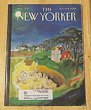 New Yorker Magazine August 11 & 18, 2008 Camp Fire