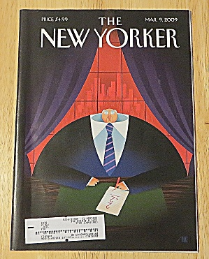 New Yorker Magazine March 9, 2009 Man Doing Math