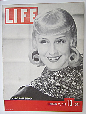 Life Magazine February 13, 1939 Blonde Norma Shearer