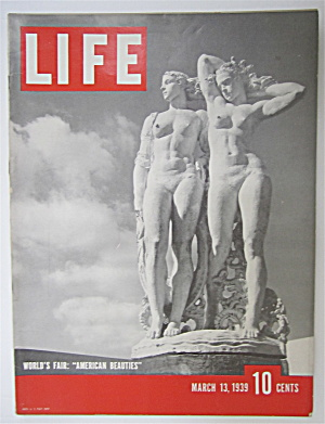 Life Magazine-march 13, 1939-american Beauties