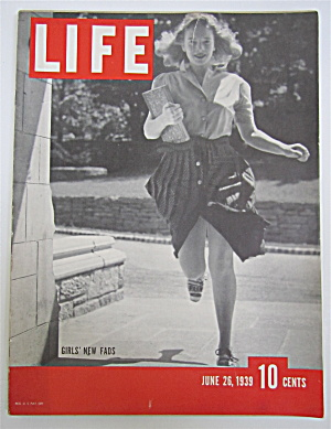 Life Magazine-june 26, 1939-girls' New Fads