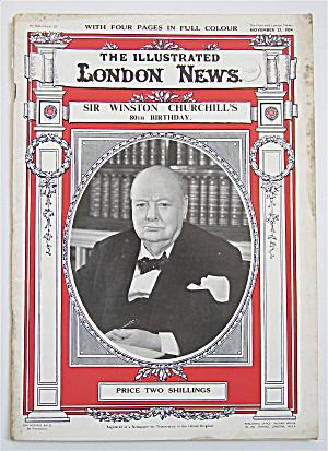 London News Magazine November 27, 1954 Churchill's 80th (Image1)
