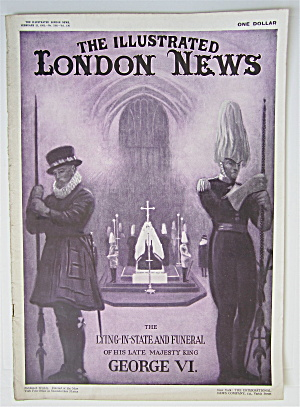 London News Magazine February 23, 1952 George Vi