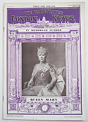 London News Magazine April 4, 1953 Queen Mary