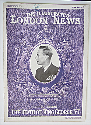 London News Magazine February 16, 1952 Death Of George