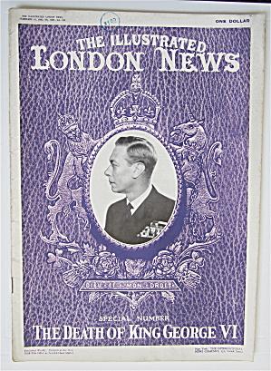 London News Magazine February 16, 1952 Death Of George  (Image1)