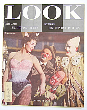 Look Magazine May 15, 1956 Gina Joins The Circus
