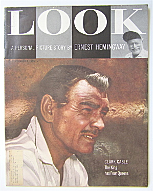 Look Magazine September 4, 1956 Clark Gable  (Image1)