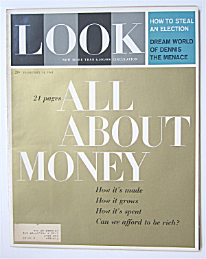 Look Magazine February 14, 1961 All About Money