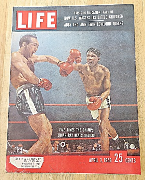 Life Magazine April 7, 1958 Sugar Ray
