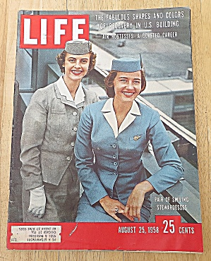 Life Magazine August 25, 1958 Stewardesses